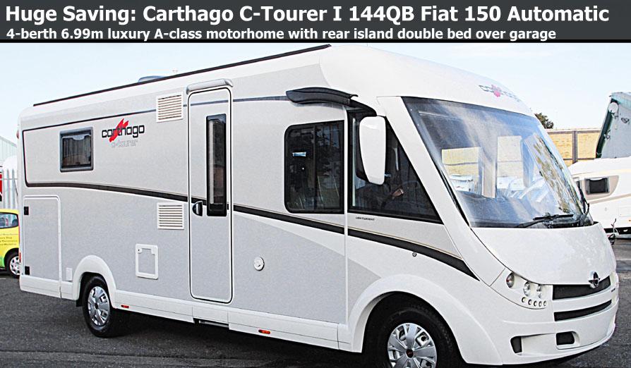 New 2017 Carthago C-Tourer I 144QB Fiat 150 Automatic A-Class Motorhome N100937 On Sale Huge Saving