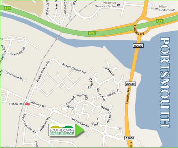 Southdowns Motorhome Centre Showroom Location Map