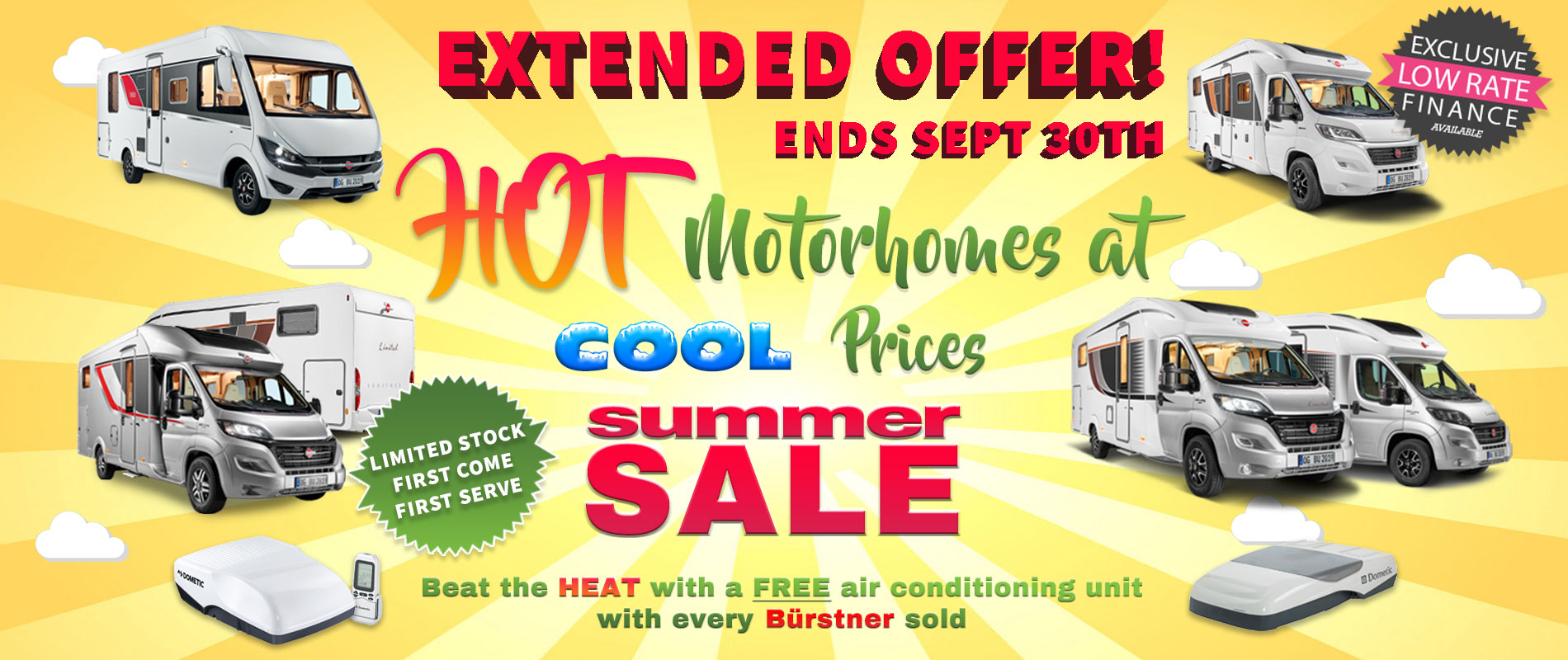 Burstner Summer Sale - Extended Offer