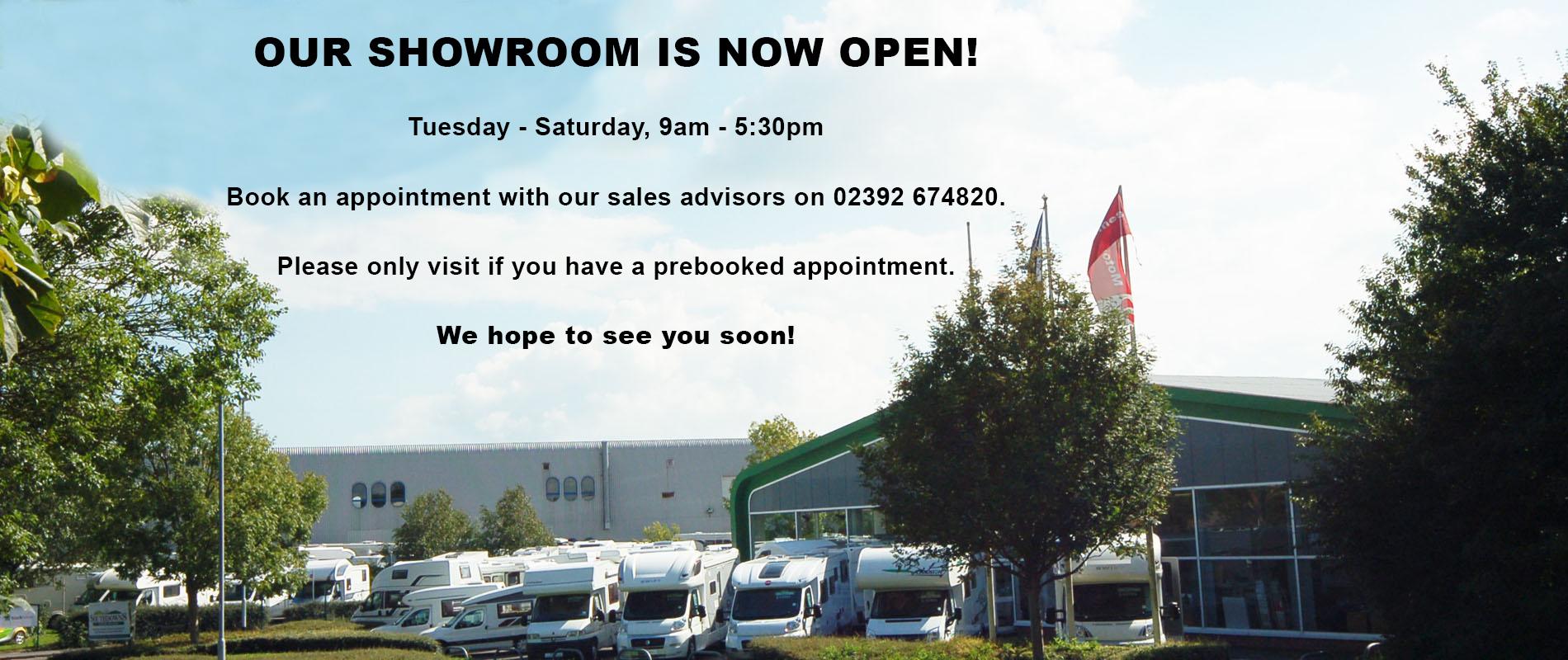 Showroom Reopening