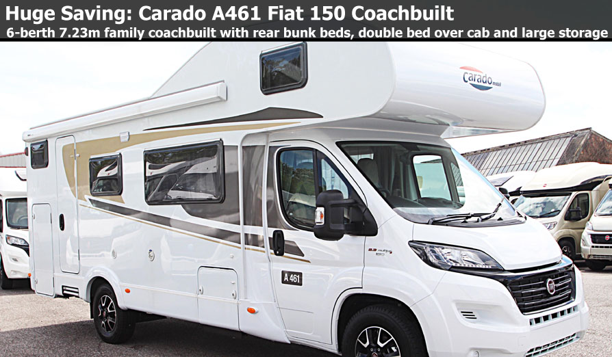 New 2017 Carado A461 Fiat 2.3L 150 Coachbuilt Motorhome N100882 Special Offer