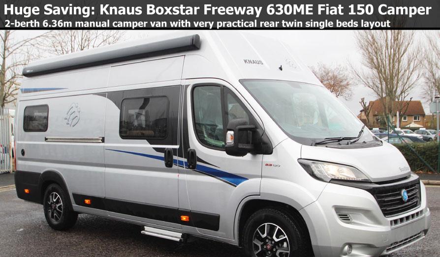 New 2018 Knaus Boxstar Freeway 630 ME Fiat 2.3L 130 Camper Van N101058 Special Offer