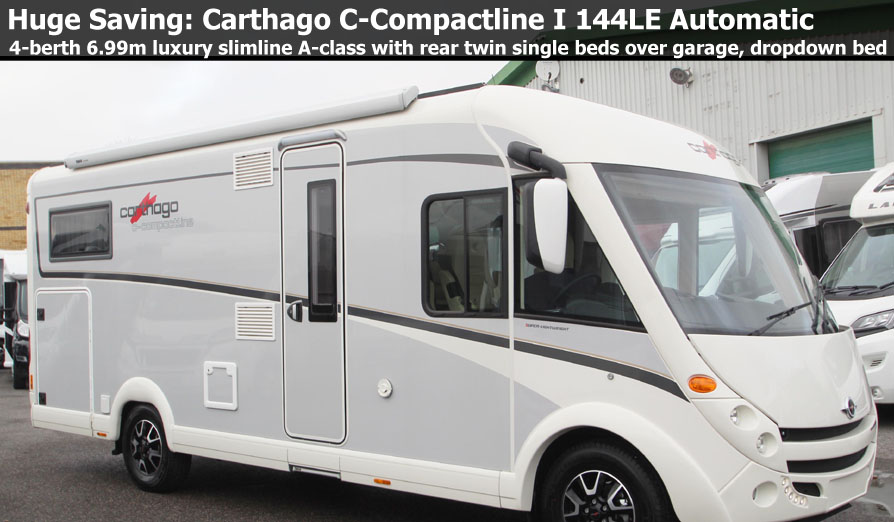 New 2018 Carthago C-Compactline I 144 LE Super-Lightweight Fiat 2.3L 150 Automatic A-Class Motorhome N101236 Special Offer