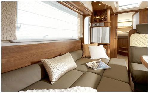 2020 Burstner Argos Motorhome A 747 2-G - Interior Photo - Lounge Bed