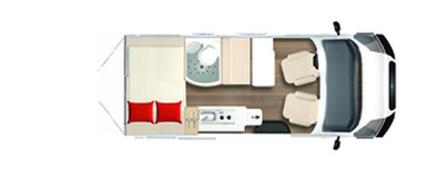 2020 Burstner City Car - Camper Van - C 540 - Layout