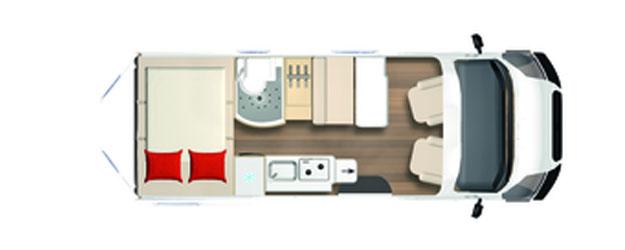2020 Burstner City Car - Camper Van - C 600 - Layout