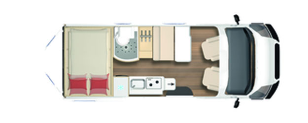 2020 Burstner City Car - Camper Van - C 601 - Layout