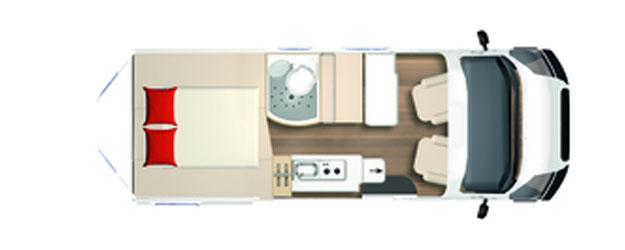 2020 Burstner City Car - Camper Van - C 602 - Layout