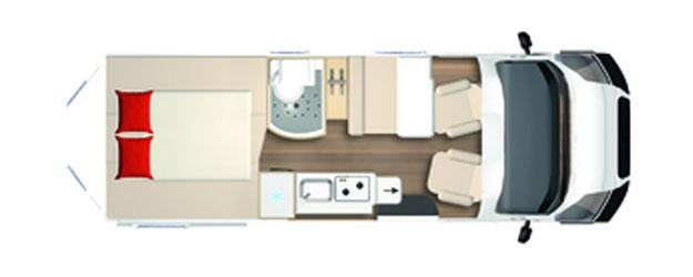 2020 Burstner City Car - Camper Van - C 640 - Layout