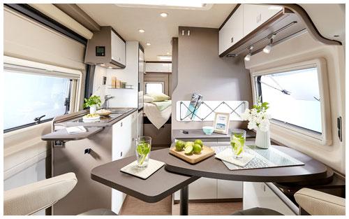 2020 Burstner City Car - Camper Van - Lounge and Kitchen