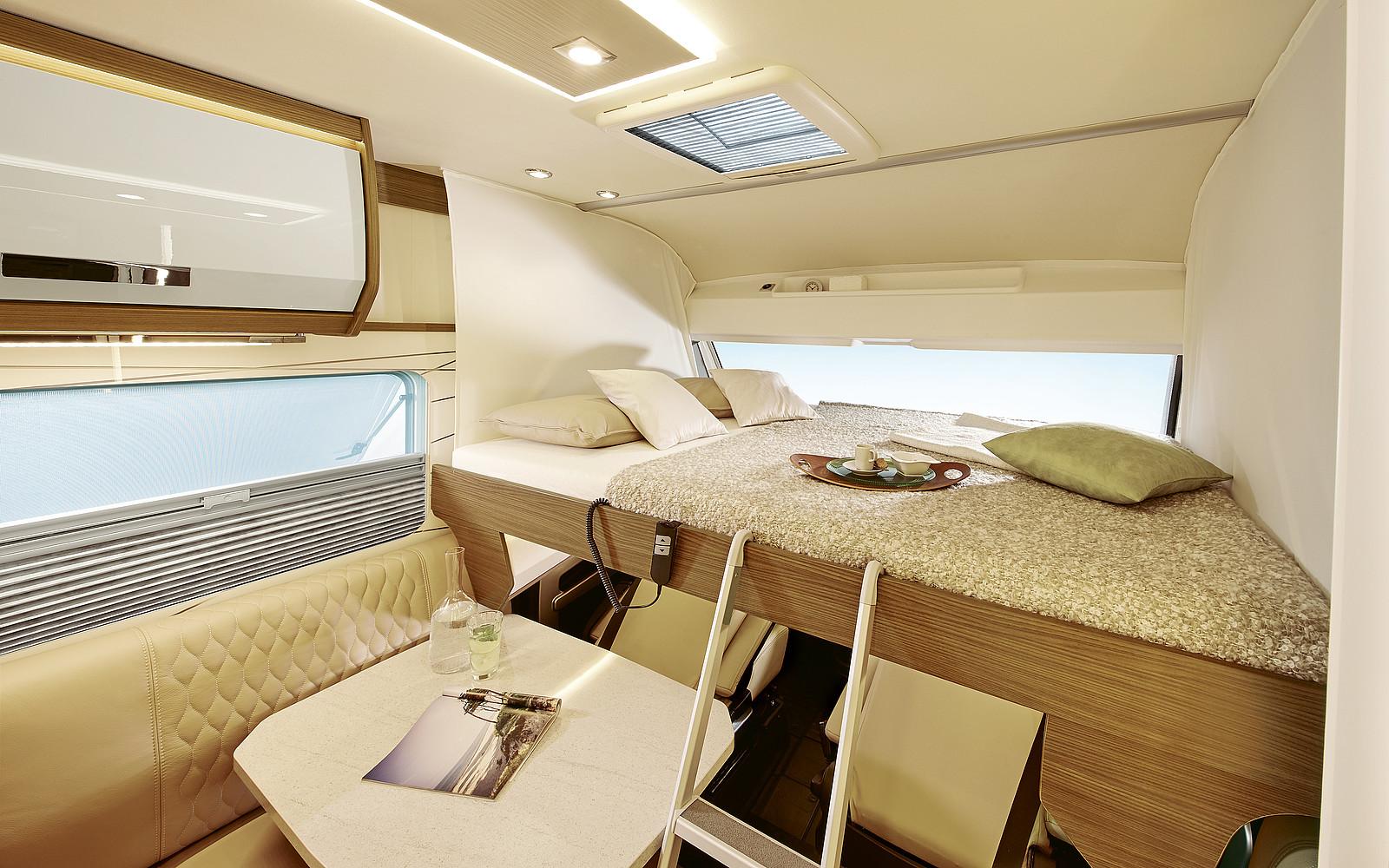 2020 Burstner Elegance Motorhome - Interior - Photo - Front Electric Drop-Down Bed