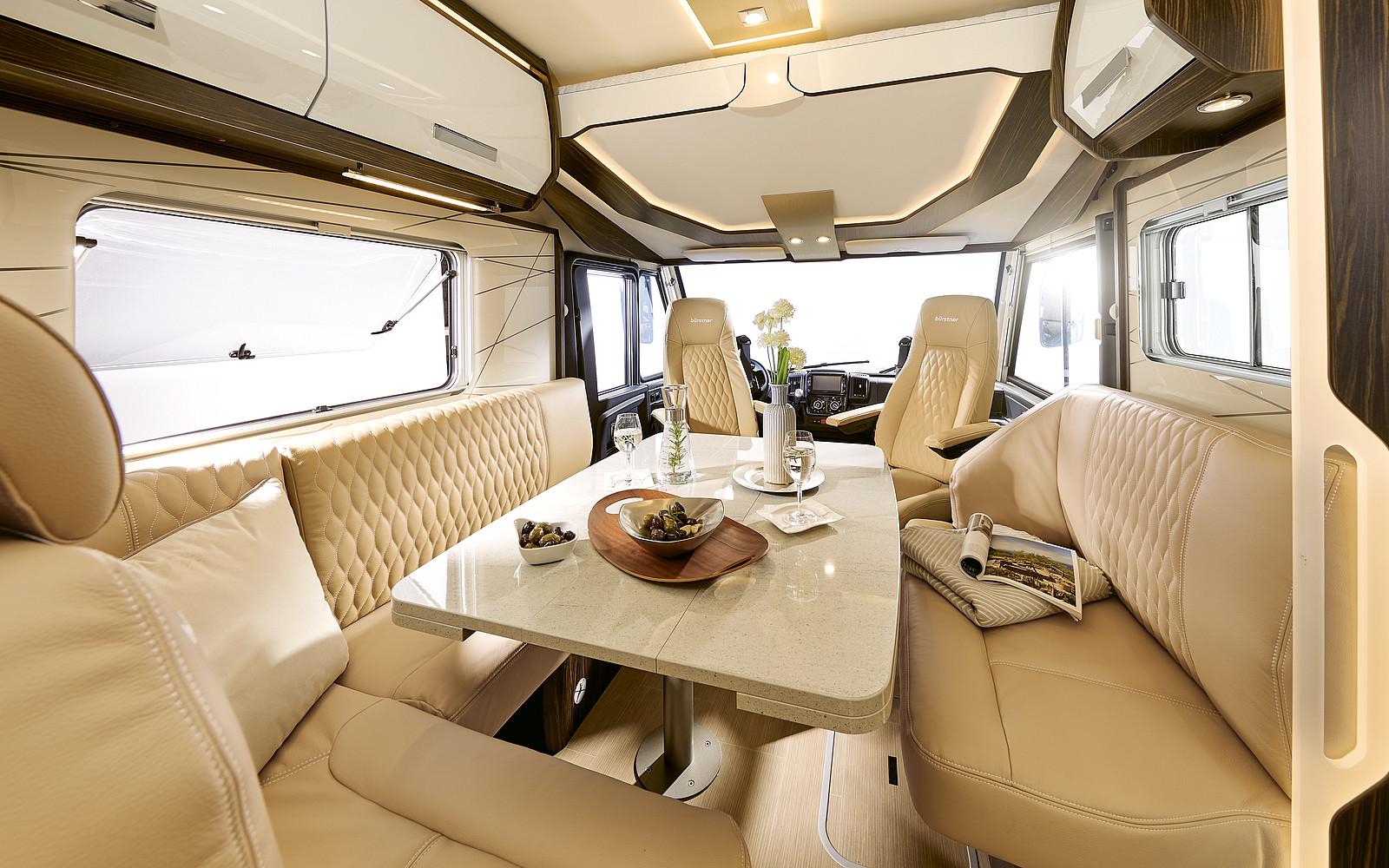 2020 Burstner Elegance Motorhome - Interior Photo - Front Lounge