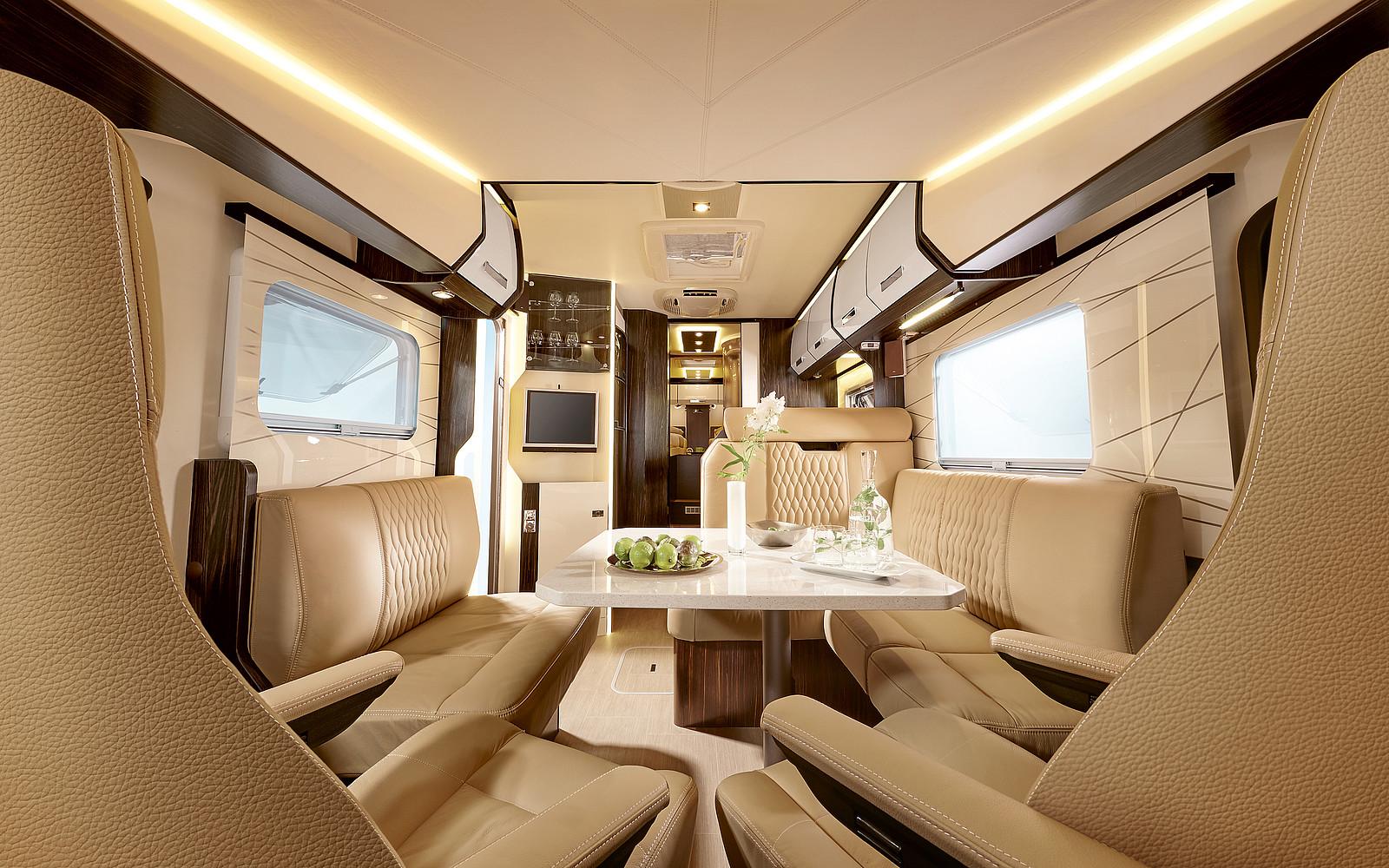 2020 Burstner Elegance Motorhome - Interior Photo - Front View Lounge Area