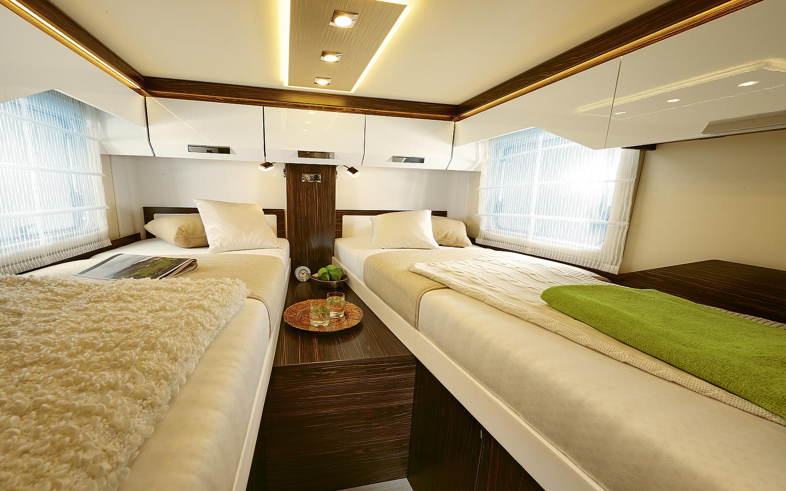2020 Burstner Elegance Motorhome - Interior - Photo - Rear Twin Single Beds
