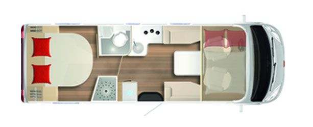 2020 Burstner Ixeo I – A-Class – 736 - Layout