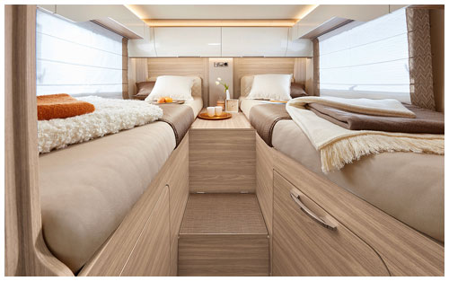 2020 Burstner Ixeo I - A-Class - Bedroom Twin Single Beds
