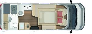 2020 Burstner Ixeo T 690 G Motorhome - Layout