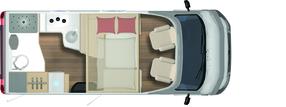 2020 Burstner Lyseo TD Harmony Line 590 Motorhome - Layout