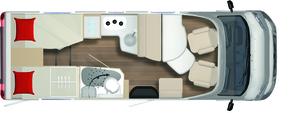 2020 Burstner Lyseo TD Harmony Line 680 G Motorhome - Layout