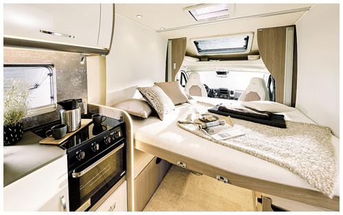 2020 Burstner Lyseo TD Harmony Line Motorhome - Interior Photo - Bed 1