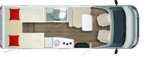 2020 Burstner Lyseo Time T Limited - Low-Profile Motorhome - T 690 G - Layout