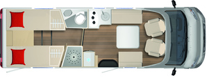 2020 Burstner Lyseo Time T Limited - Low-Profile Motorhome - T 727 G - Layout