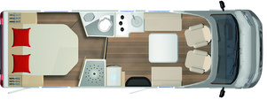 2020 Burstner Lyseo Time T Limited - Low-Profile Motorhome - T 736 - Layout