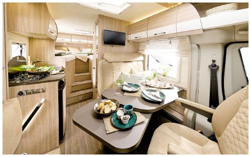 2020 Burstner Travel Van - Low-Profile Motorhome - Lounge and Kitchen View