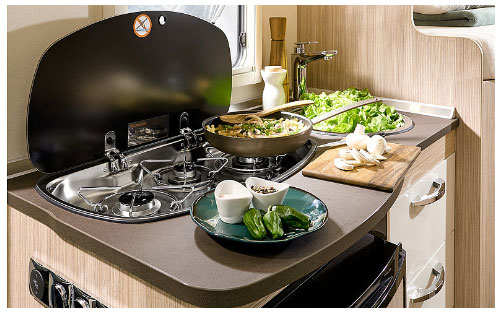 2020 Burstner Travel Van - Low-Profile Motorhome - Side Kitchen