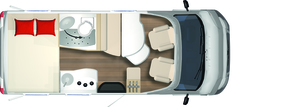 2020 Burstner Travel Van - Low-Profile Motorhome - T 590 G - Layout