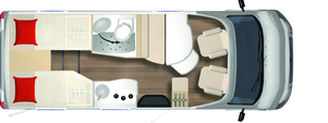2020 Burstner Travel Van - Low-Profile Motorhome - T 620 G - Layout