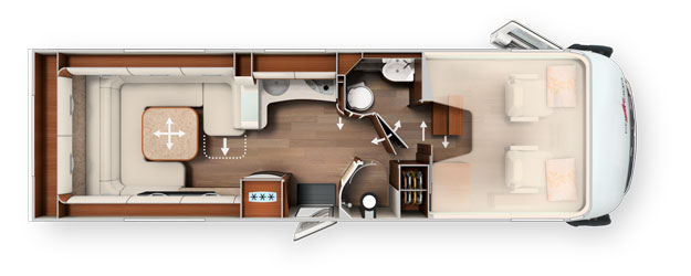 2020 Carthago Liner-For-Two A-Class Motorhome I 53 L - Layout