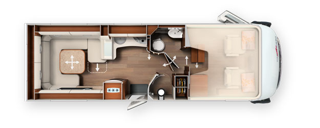 2020 Carthago Liner-For-Two A-Class Motorhome I 53 - Layout
