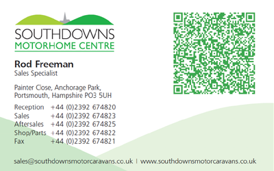 Rod Freeman Sales Specialist Business Card